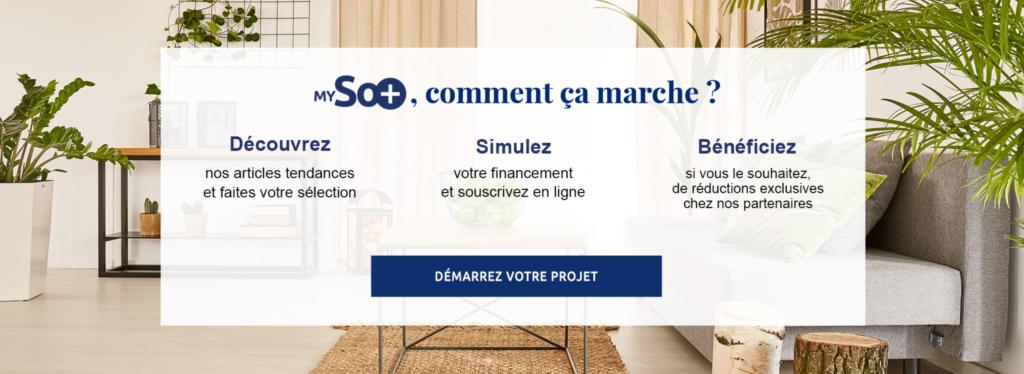 Site MySO+ par Sofinco