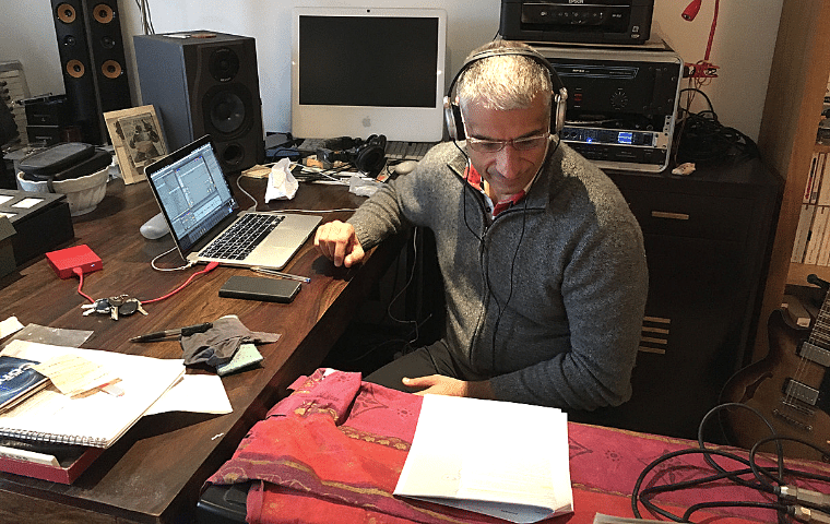 Mixage en studio - Design Fiction avec Alain Damasio