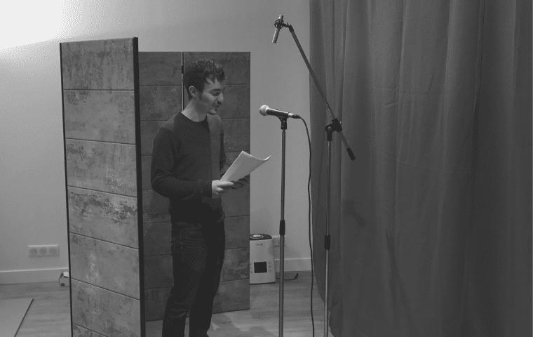 Enregistrement en studio - Design Fiction avec Alain Damasio