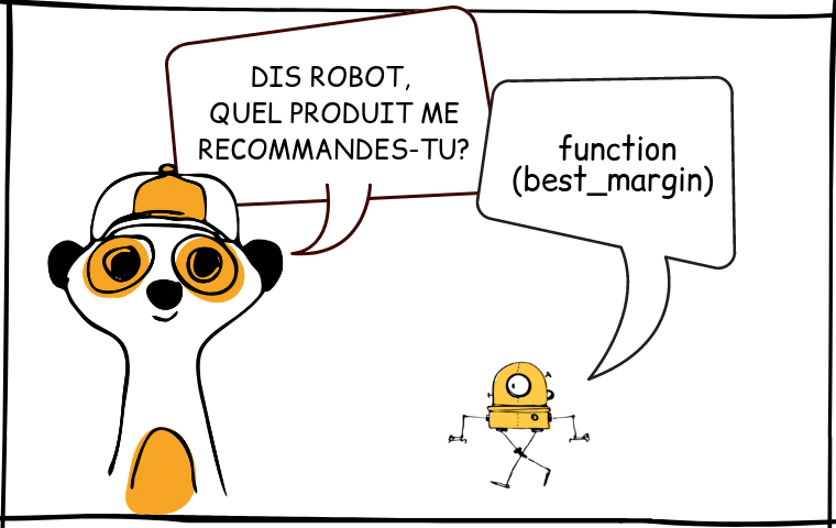 Site web - Cartoon - Recommandation produits