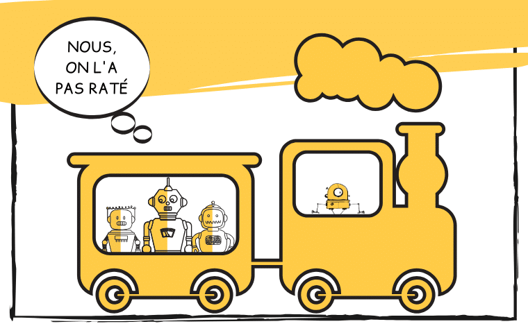 Cartoon - IA, ne pas rater le trains des opportunités