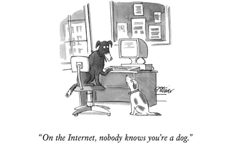On the internet nobody knows you are a dog - Steiner